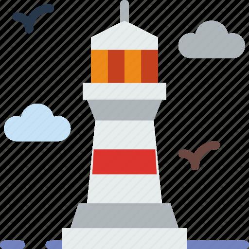 building, city, lighthouse, street, urban icon