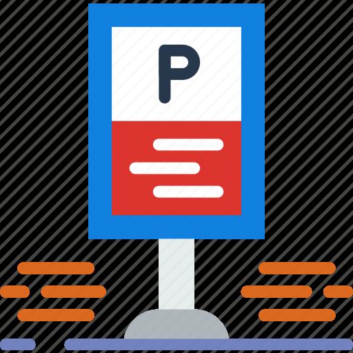 building, city, parking, street, urban icon