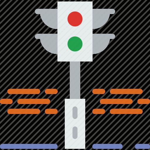 building, city, light, street, traffic, urban icon