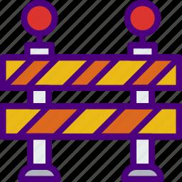 building, city, street, traffic, urban, warning icon