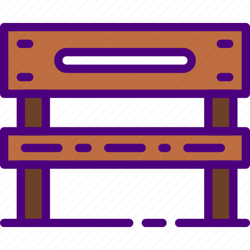 bench, building, city, street, urban icon