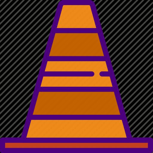 building, city, cone, street, traffic, urban icon