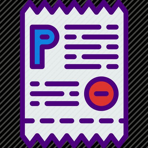building, city, parking, street, ticket, urban icon