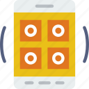 interface, mobile, app, interaction, grid icon