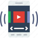 interaction, mobile, app, playback, video, interface icon