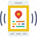 interface, mobile, app, interaction, location icon
