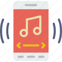 app, interaction, interface, mobile, music, player icon