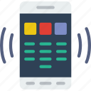 dial, interaction, mobile, app, pad, interface icon