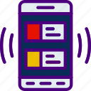 interaction, mobile, double, app, interface, article icon
