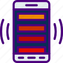 interaction, mobile, app, grid, triple, interface icon