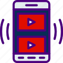 app, carousel, interaction, interface, mobile, video icon
