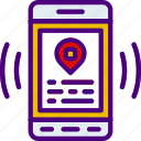 app, interaction, interface, location, mobile icon