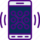 app, interaction, interface, lock, mobile, screen icon