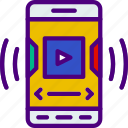 interaction, mobile, app, player, video, interface icon