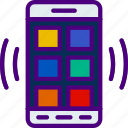 app, double, grid, interaction, interface, mobile icon