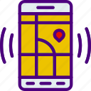 app, interaction, interface, location, map, mobile icon