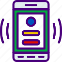 profile, interaction, mobile, app, request, interface icon