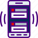 interaction, mobile, notification, app, window, interface icon