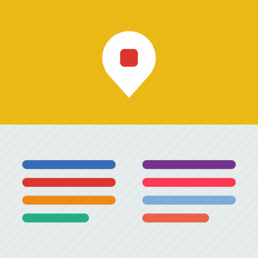 interaction, internet, location, user, web icon
