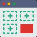 add, interaction, internet, segment, user, web icon