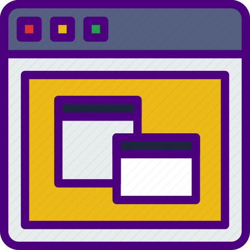 interaction, internet, multiple, user, web, windows icon