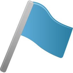 blue, flag icon