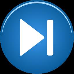 forward, skip icon