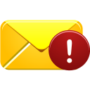 alert, email icon