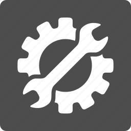 equipment, gear, industry, repair, service, work, wrench icon