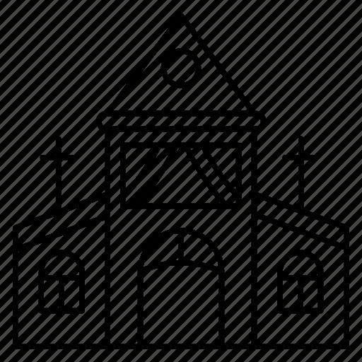 building, catholic, church, religious, wedding icon