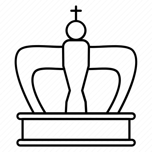 christian, crown, empire, king, monarch icon
