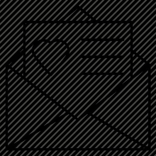 envelope, inivitation, letter, open, weddingcard icon