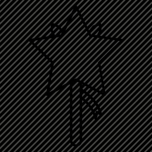 star, stick, wand, wedding, wizard icon