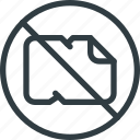 crumpled, no, paper icon