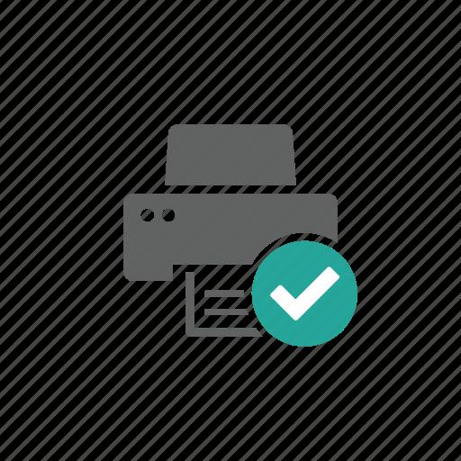 check, check marak, device, hardware, printer, updated icon