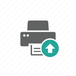 arrow, device, hardware, printer, up, upload icon