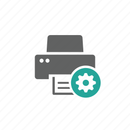 device, gear, hardware, options, printer, setting icon