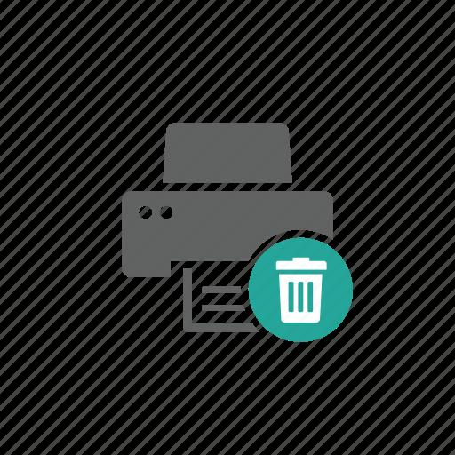 delete, device, hardware, printer, remove, trash, trash bin icon