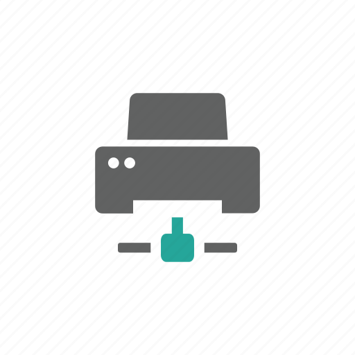 connect, device, hardware, network, printer icon