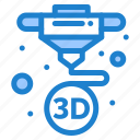 3d, machine, print, printing icon