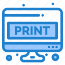 page, print, sheet, paper, doc, screen, computer icon