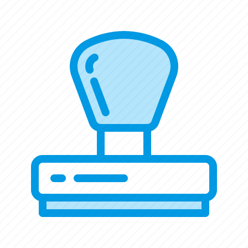 office, rubber, stamp icon