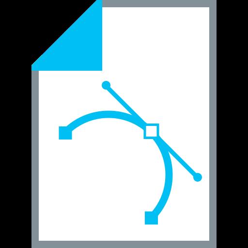 design, document, illustrate, illustration, nodes, points, vector points icon