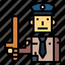 baton, guard, prison, security, warder icon