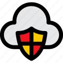 secure, protection, shield, cloud