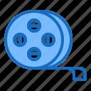 film, frame, movie, negative, roll icon