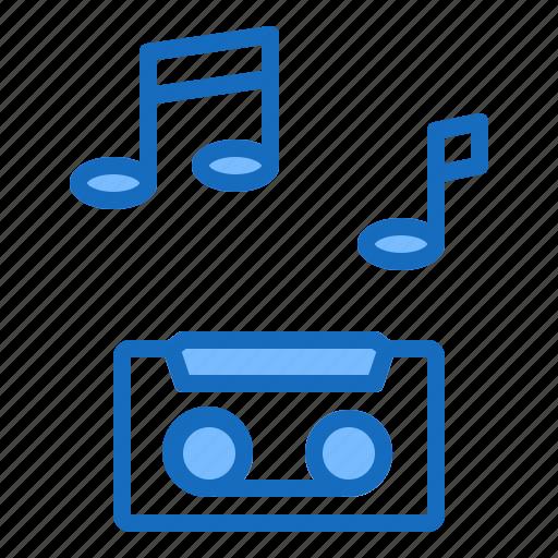 audio, musical, recording, sound, tape icon