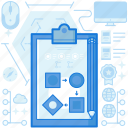 chart, clipboard, document, pencil, plan, procedure, process icon