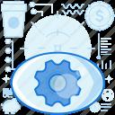 cogwheel, eye, gear, management, product, visual, visualization