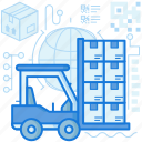 box, forklist, package, parcel, storage, warehouse icon